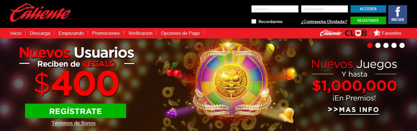 Caliente Casino página