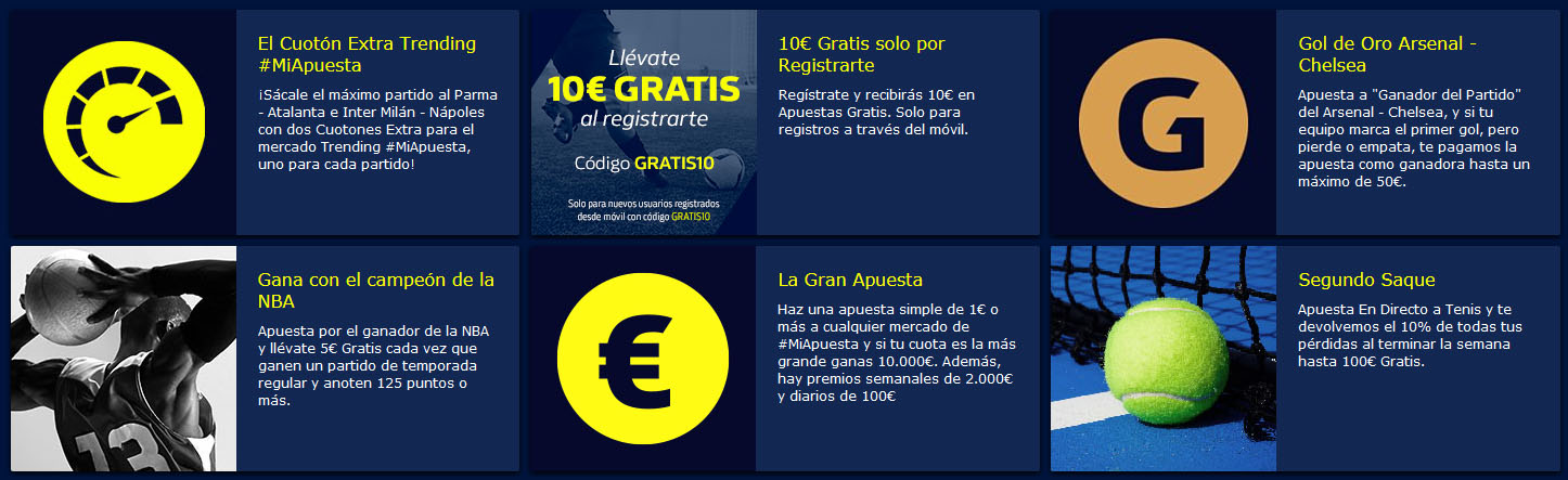 Promociones William Hill