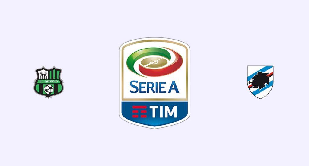 Sassuolo v Sampdoria Previa, Predicciones y Pronóstico