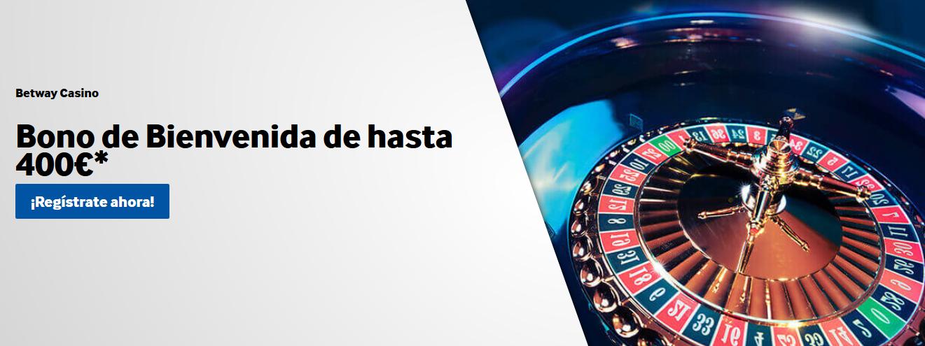 Bono Bienvenida Casino Betway