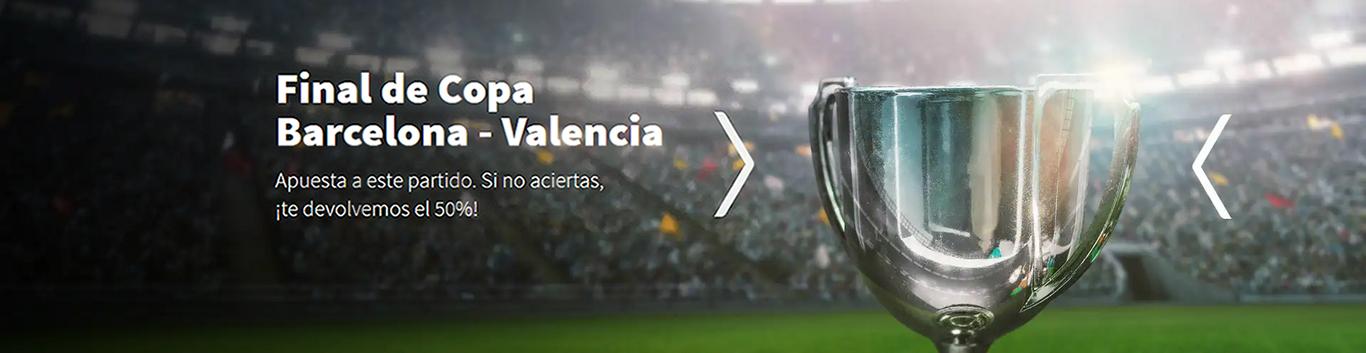Barcelona v Valencia devolución 50% Betsson