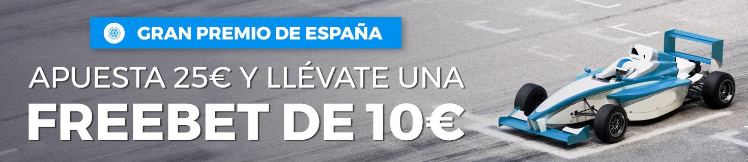 Gran Premio España Freebet 10€
