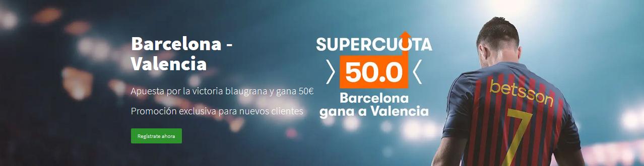 Supercuota Barcelona v Valencia copa rey 50.0