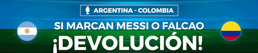 Argentina v Colombia devolución Paston