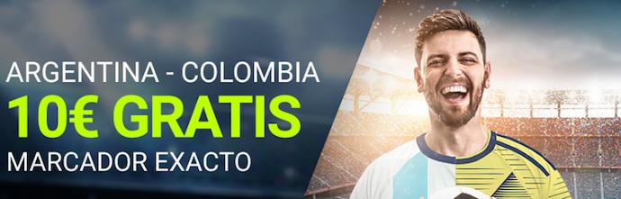 Argentina v Colombia bono Luckia
