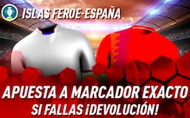 Islas Feroe v España devolución Sportium