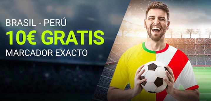 Brasil v Perú bonus Luckia