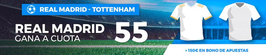 Real Madrid v Tottenham cuota mejoada Paston
