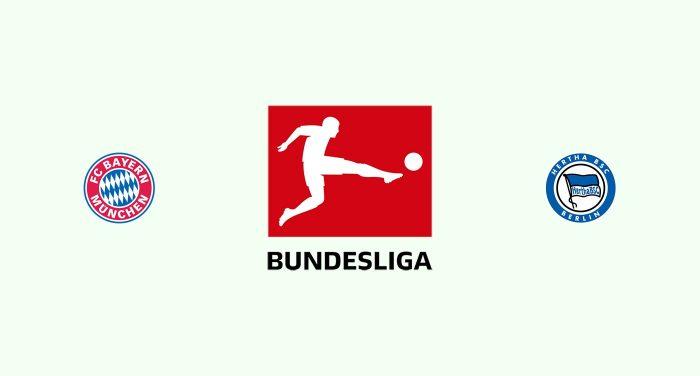Bayern Múnich v Hertha Berlin Previa, Predicciones y Pronóstico