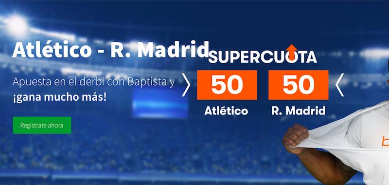 Atlético Madrid v Real Madrid cuota mejorada Betsson