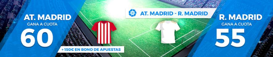 Atlético Madrid v Real Madrid cuota mejorada Pastón