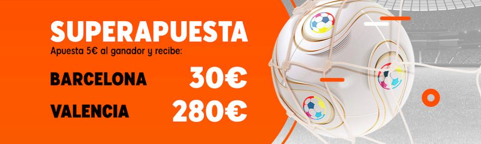 Barcelona v Valencia cuota mejorada 888sport