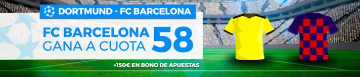 Borussia Dortmund v Barcelona cuota mejorada Pastón