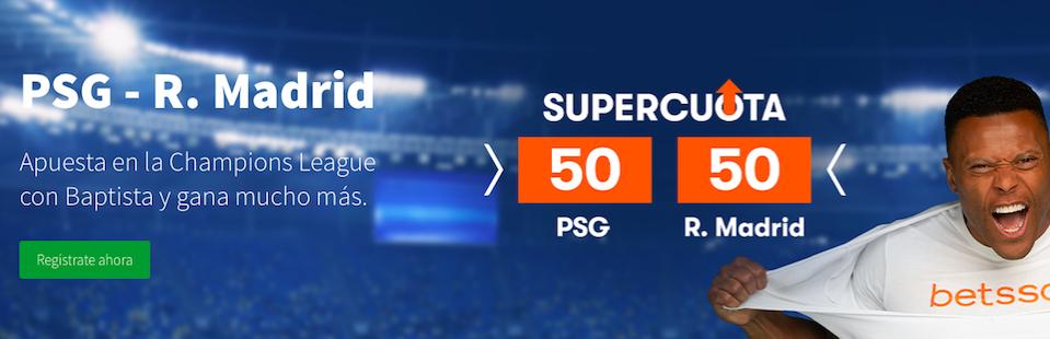 PSG v Real Madrid cuota mejorada Betsson