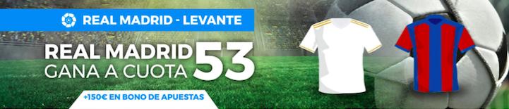 Real Madrid v Levante cuota mejorada Pastón
