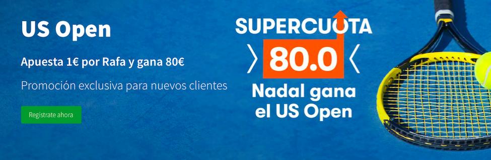 US Open Cuota mejorada Betsson