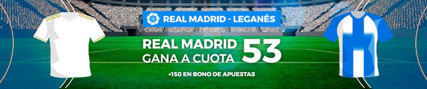 Real Madrid v Leganés cuota mejorada Pastón