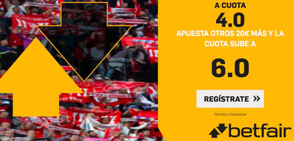 Sevilla v Apoel cuota mejorda Betfair