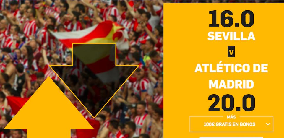 Sevilla v Atlético Madrid cuota mejorada Betfair