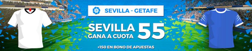 Sevilla v Getafe cuota mejorada Pastón