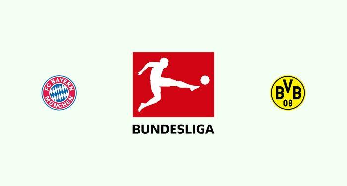 Bayern Múnich v Borussia Dortmund Previa, Predicciones y Pronóstico