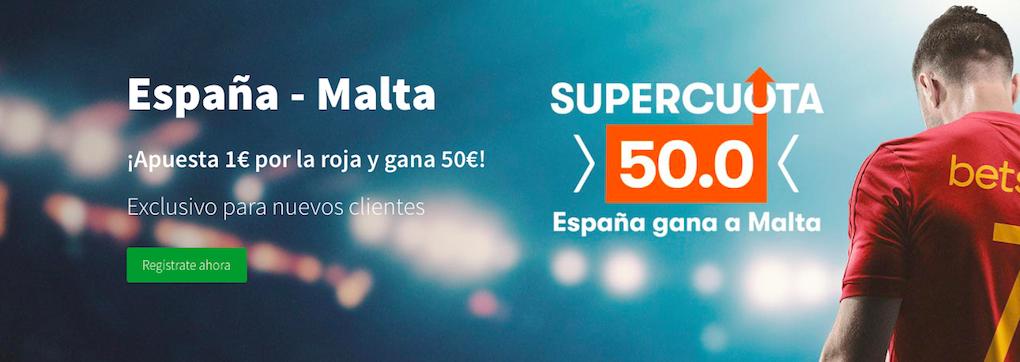 España v Malta cuota mejorada Betsson