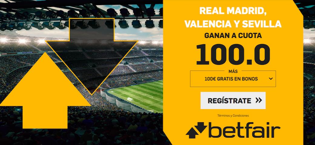 Liga Santander cuota mejorada Betfair