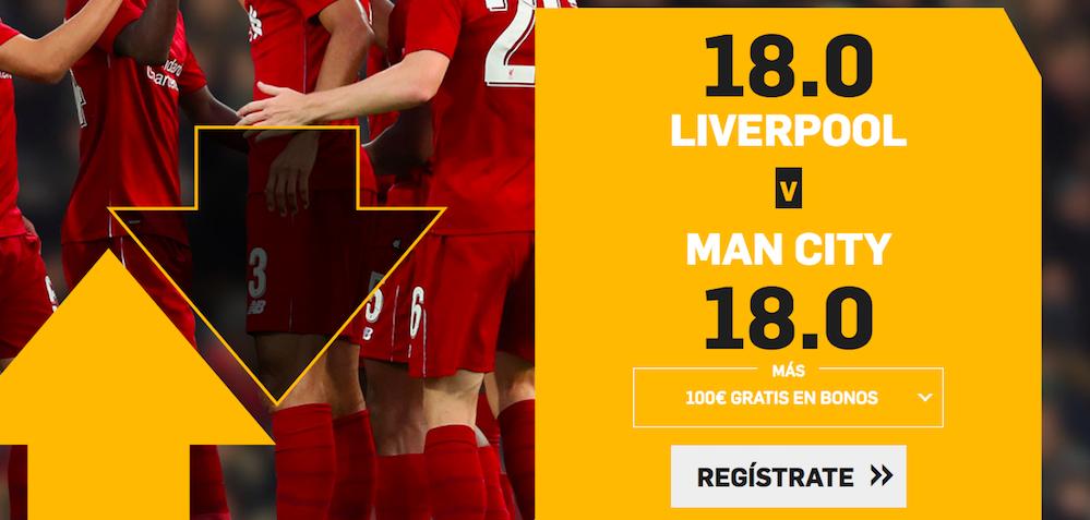 Liverpool v Manchester City cuota mejorada Betfair