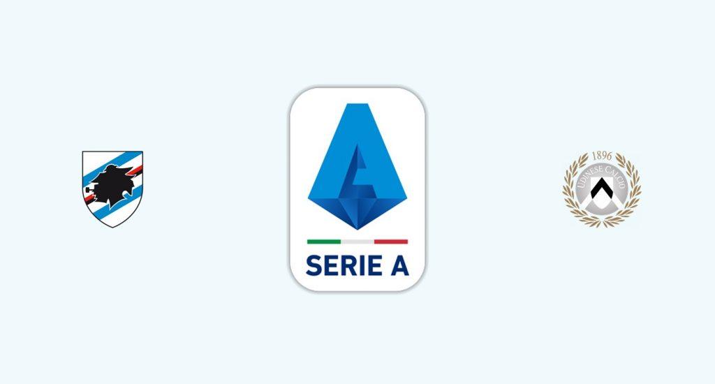 Sampdoria v Udinese Previa, Predicciones y Pronóstico