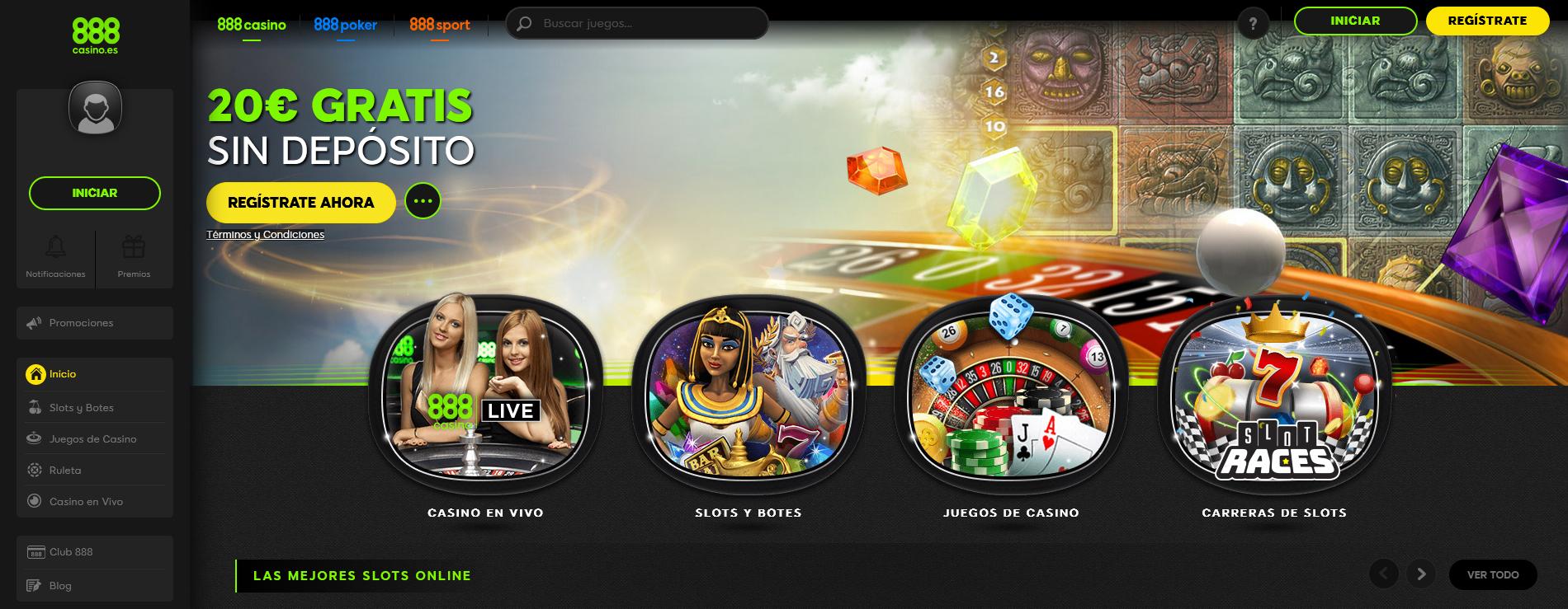 operadores de casino 888