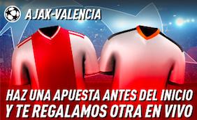 Ajax v Valencia oferta Sportium