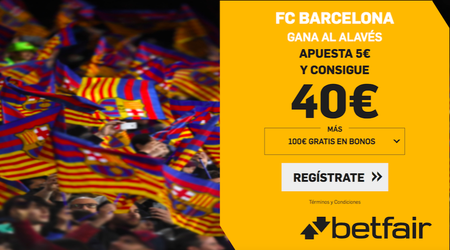 Barcelona v Alavés cuota mejorada Betfair