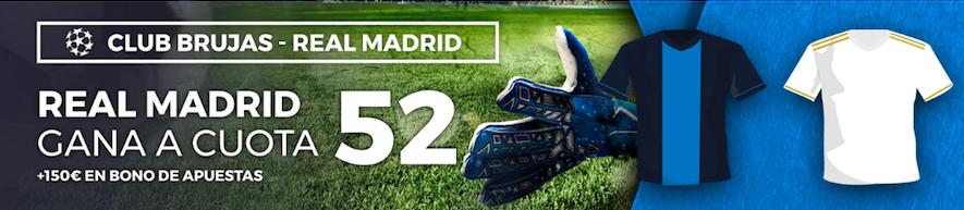 Brujas v Real Madrid cuota mejorada Pastón