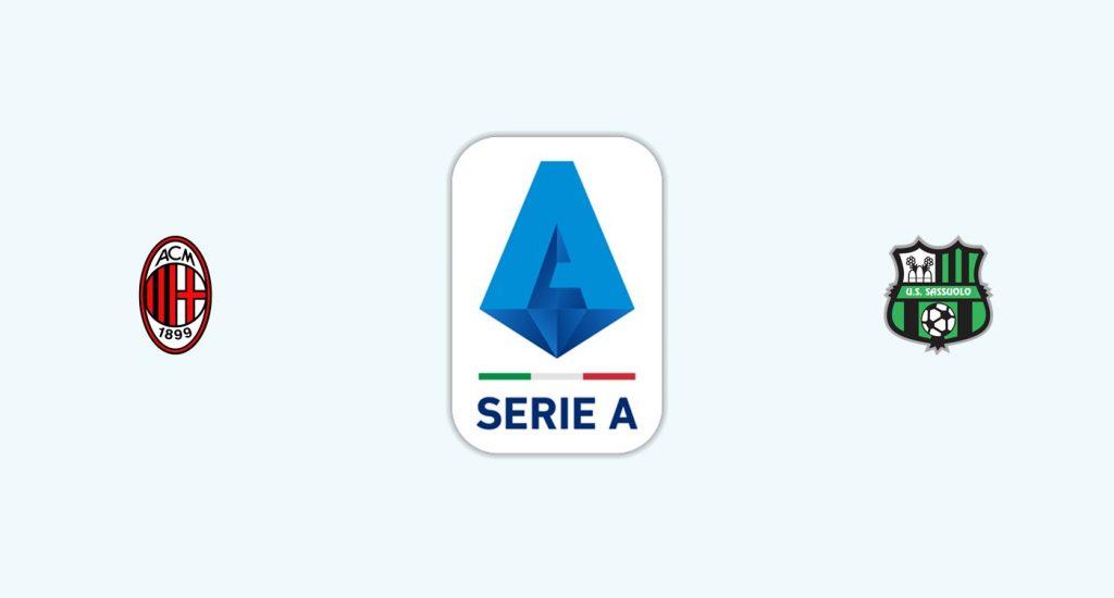 Milan v Sassuolo Previa, Predicciones y Pronóstico