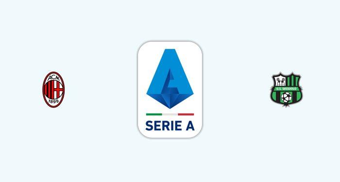 Milan v Sassuolo Previa, Predicciones y Pronóstico 12/12/2019