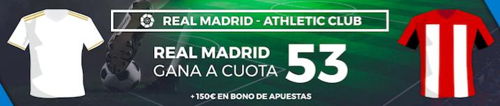 Real Madrid v Athletic Club cuota mejorada Pastón