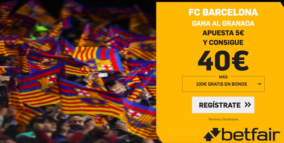 Barcelona v Granada cuota mejorada Betfair