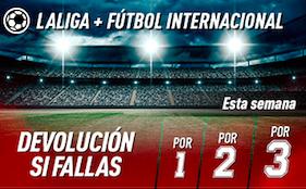 Liga Santander y fútbol internacional oferta Sportium