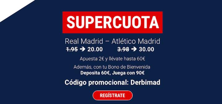 Real Madrid v Atlético Madrid cuota mejorada Marathonbet