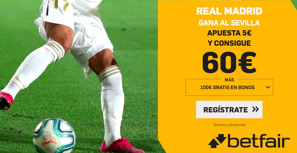 Real Madrid v Sevilla cuota mejorada Betfair