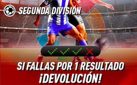 Segunda División oferta Sportium