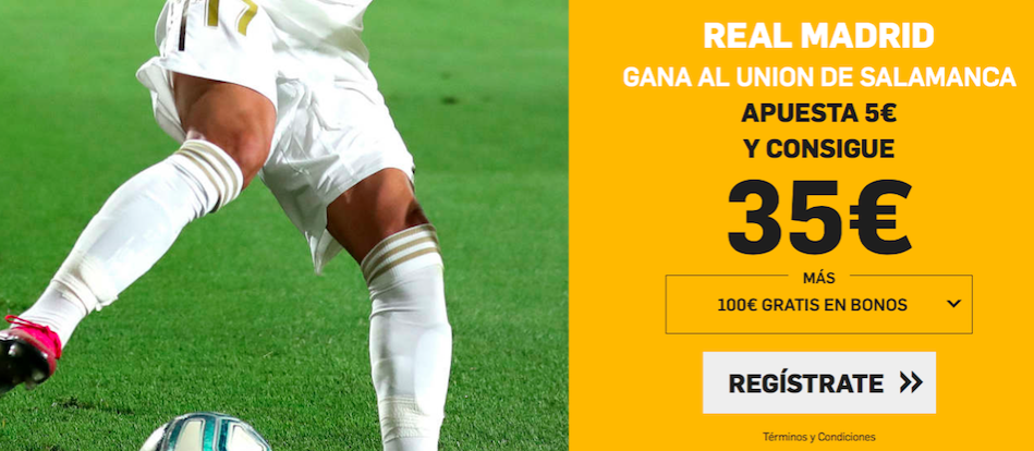 Unionistas Salamanca v Real Madrid cuota mejorada Betfair