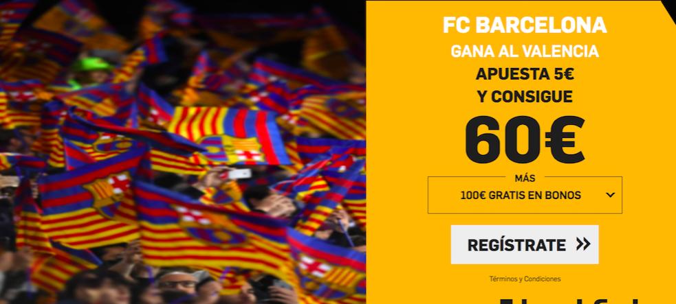Valencia v Barcelona cuota mejorada Betfair