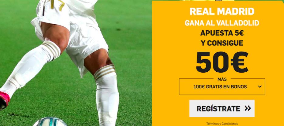 Valladolid v Real Madrid cuota mejorada Betfair