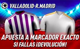 Valladolid v Real Madrid oferta Sportium