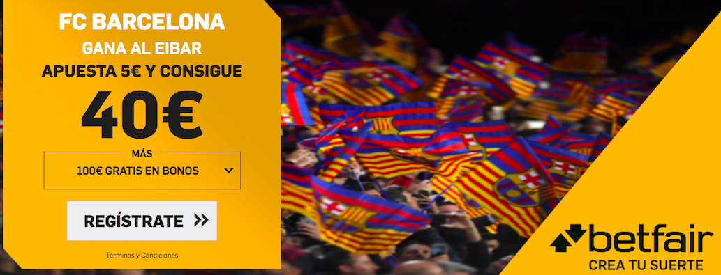 Barcelona v Eibar cuota mejorada Betfair