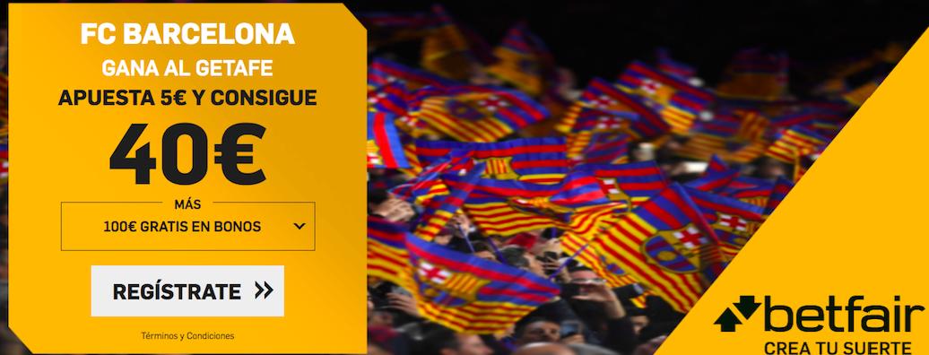 Barcelona v Getafe cuota mejorada Betfair