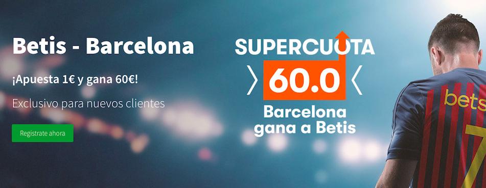 Betis v Barcelona cuota mejorada Betsson