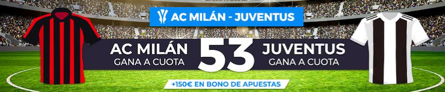 Milán v Juventus cuota mejorada Pastón