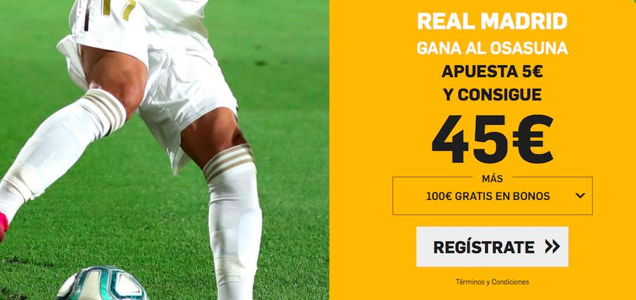 Osasuna v Real Madrid cuota mejorada Betfair